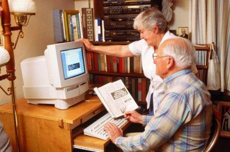 Пенсионеров научат как пользоваться компьютером