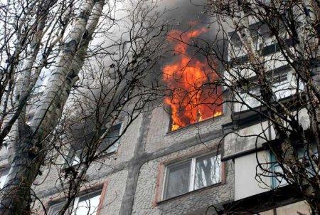 Пожар в жилом доме по улице Калинина 105
