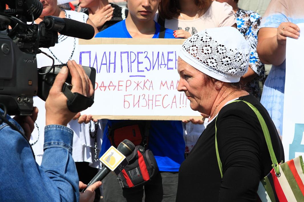 Фотографии с пикета защитников городского рынка