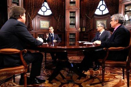 Интервью телеканалам «Первый», «Россия» и НТВ