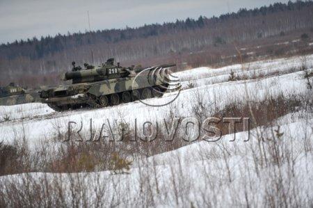 Учения 4-й отдельной танковой бригады Западного военного округа