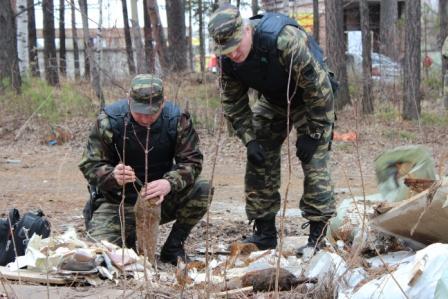 Северчане обнаружили в куче мусора снаряды времен войны