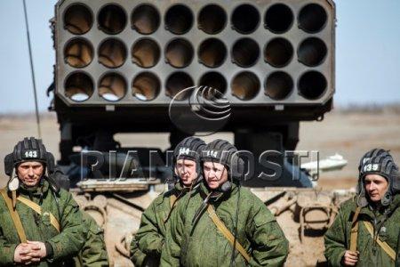Тактико-специальные учения на полигоне в Волгоградской области