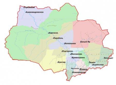 Томскую область планируется разделить на 6 зон развития