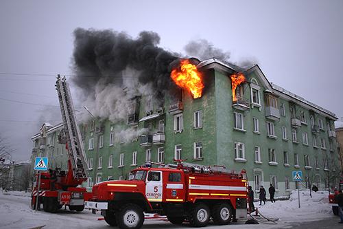 32 человека было эвакуировано из-за пожара на улице Ленина, 16