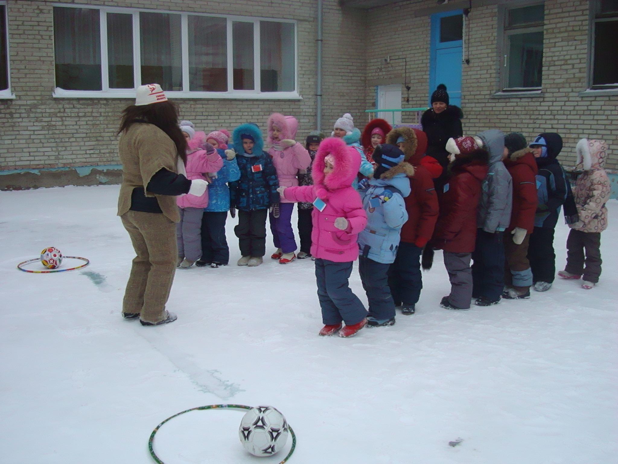 Зимние конкурсы с родителями в детском саду