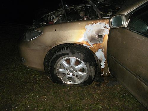 Неизвестные подожгли автомобиль «Toyota Camry»