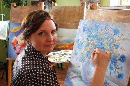 Медсестра Татьяна Десятова заняла 1 место в конкурсе художественных работ