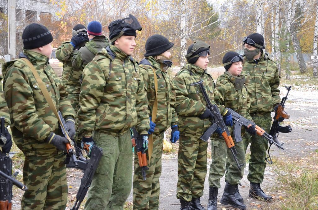 Тактические учения северских кадет