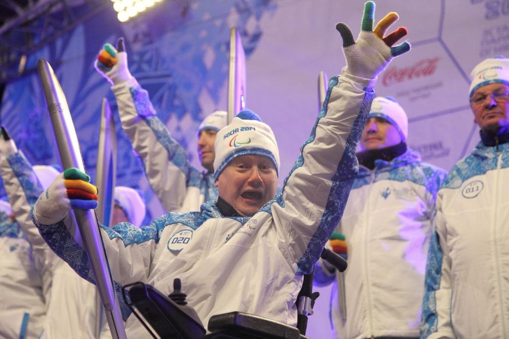 Эстафета Паралимпийского огня глазами Евгения Седельникова