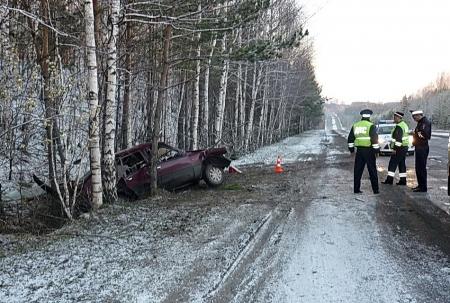 Два человека пострадали в аварии на закрытом участке Кузовлевского тракта