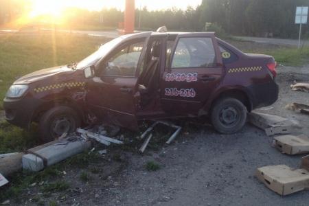 Полиция расследует ЧП на Кузовлевcком тракте с участием такси