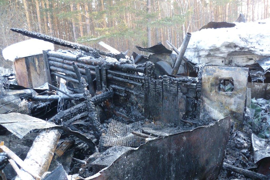 Снег помешал пожарным добраться до горящего дома