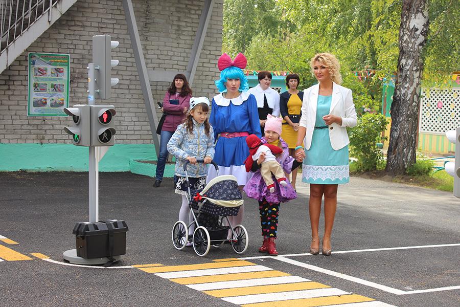В детском саду №25 появился автогородок