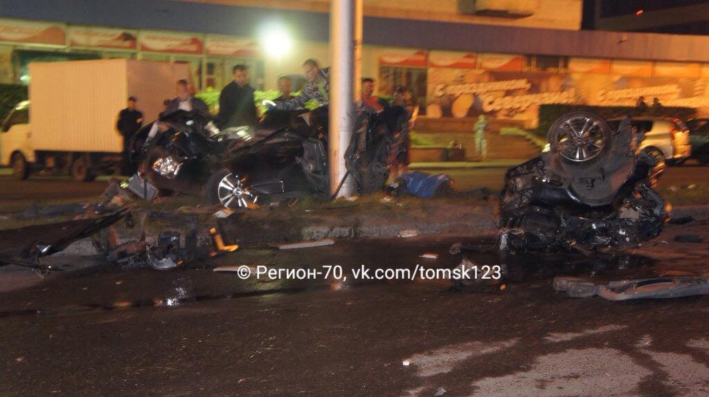 Страшная ночная авария на проспекте Коммунистическом, водитель погиб на месте