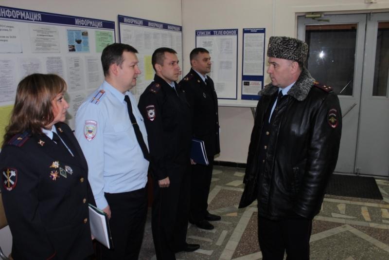 Начальник регионального УМВД проверил работу северской полиции