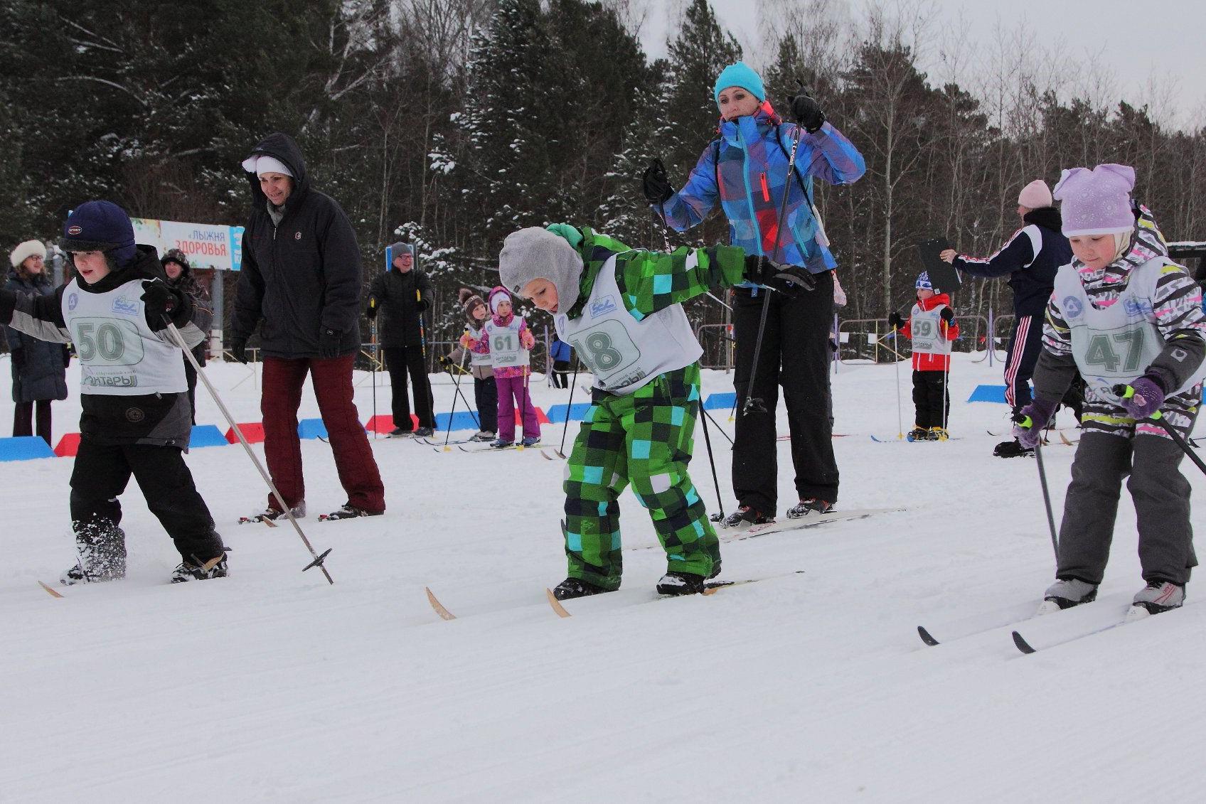 Самые юные представители лыжных гонок сдали экзамен по программе ГТО