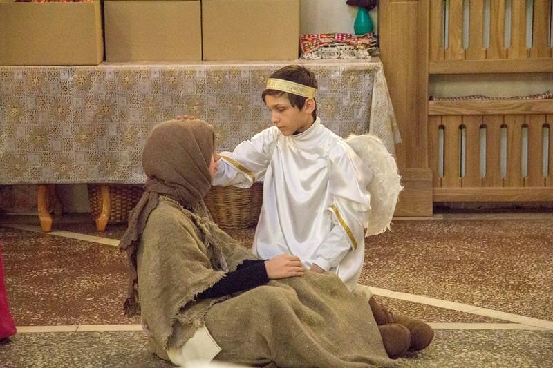 Поздравление с Рождеством прихожан от воскресной школы