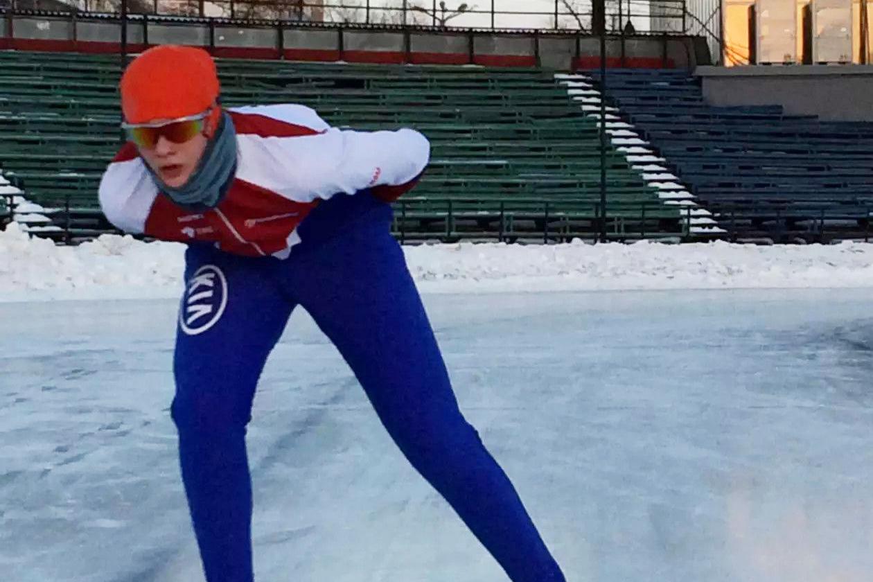 Северчане приняли участие в отборочных соревнованиях по конькобежному спорту