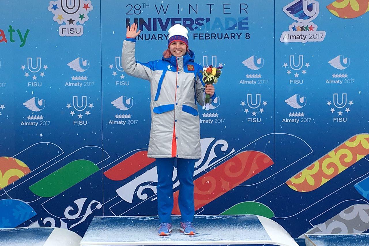 Александра Качуркина стала чемпионкой Универсиады по конькобежному спорту