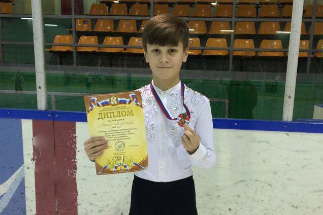 Юный фигурист отправится на Первенство России по фигурному катанию на коньках