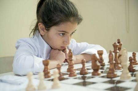 Семилетняя София Партыс приняла участие в Первенстве СФО по шахматам