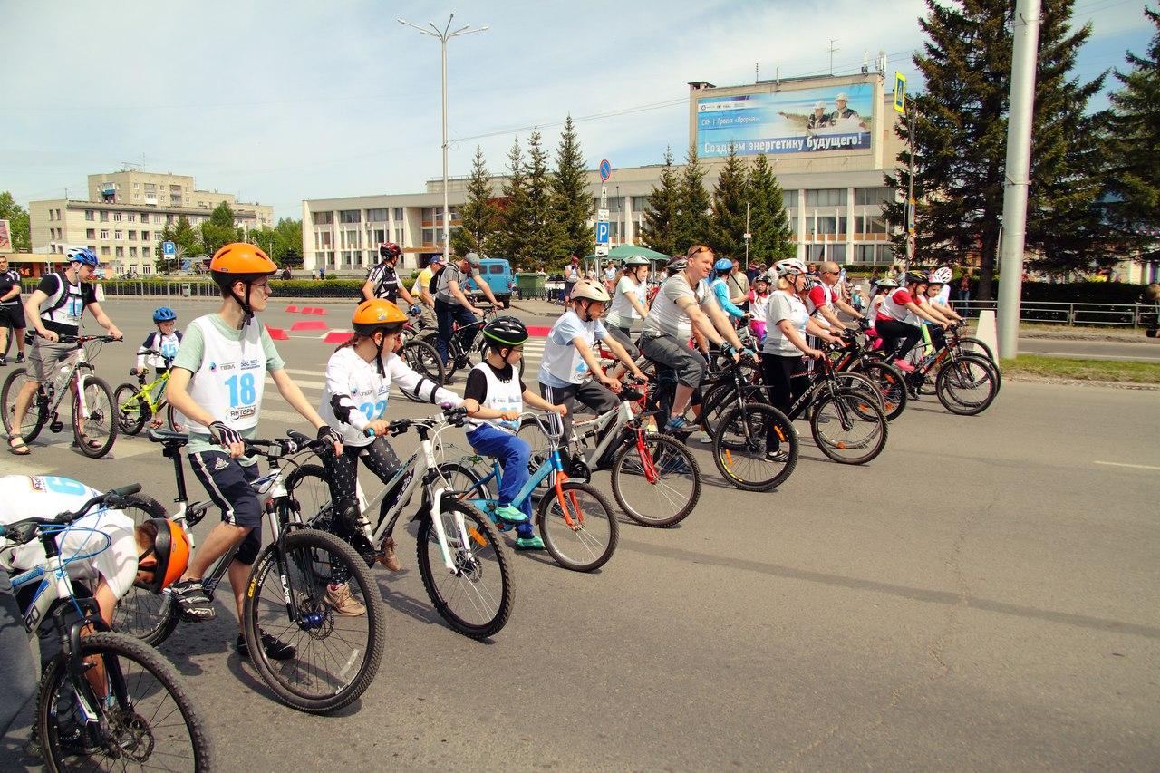 В городе прошел массовый велопробег