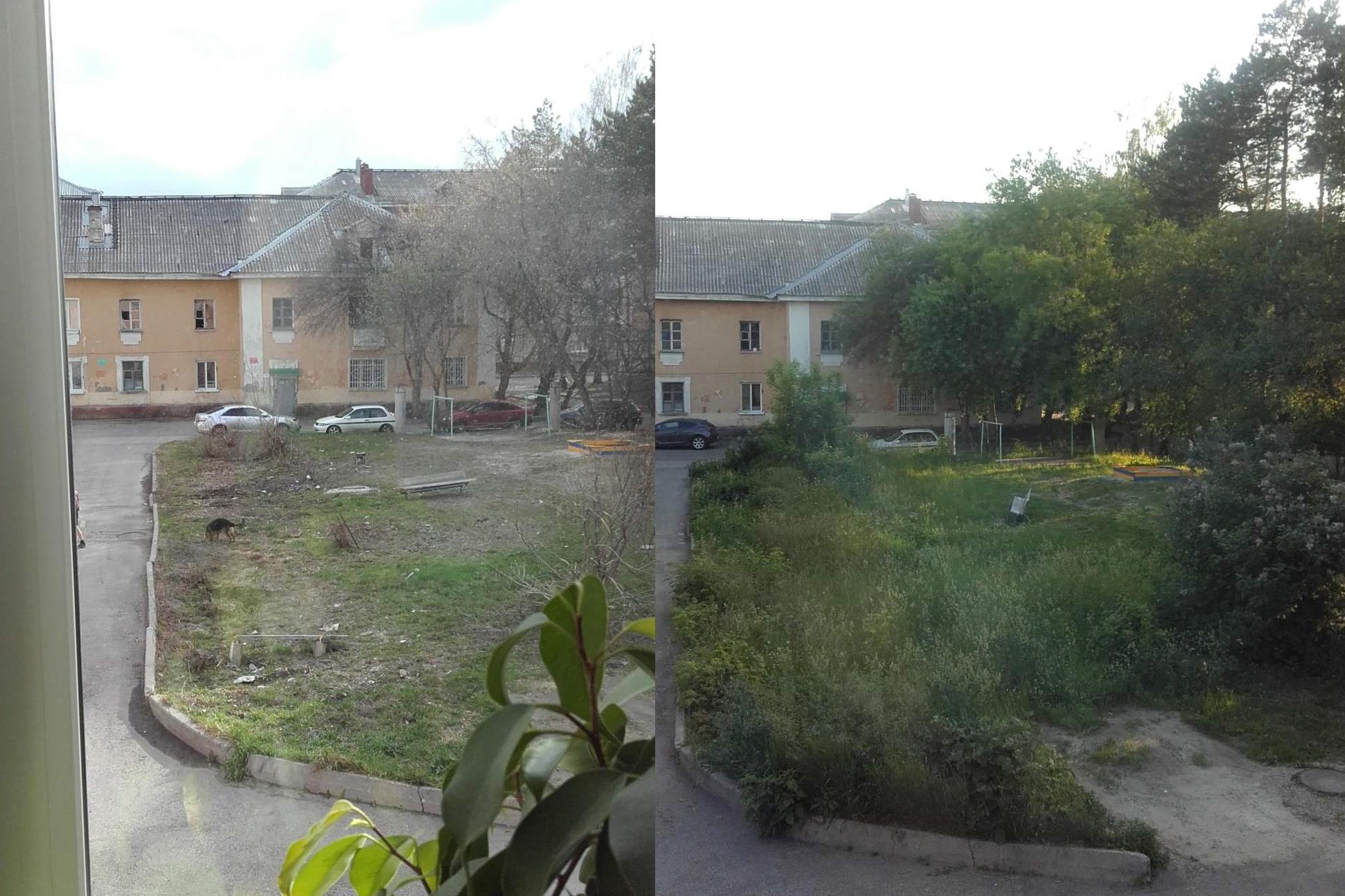 Детская площадка до и после ремонта