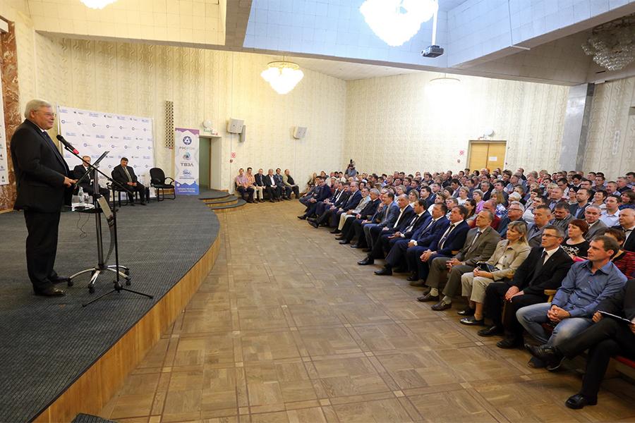 Сергей Жвачкин и Вячеслав Першуков встретились с коллективом СХК