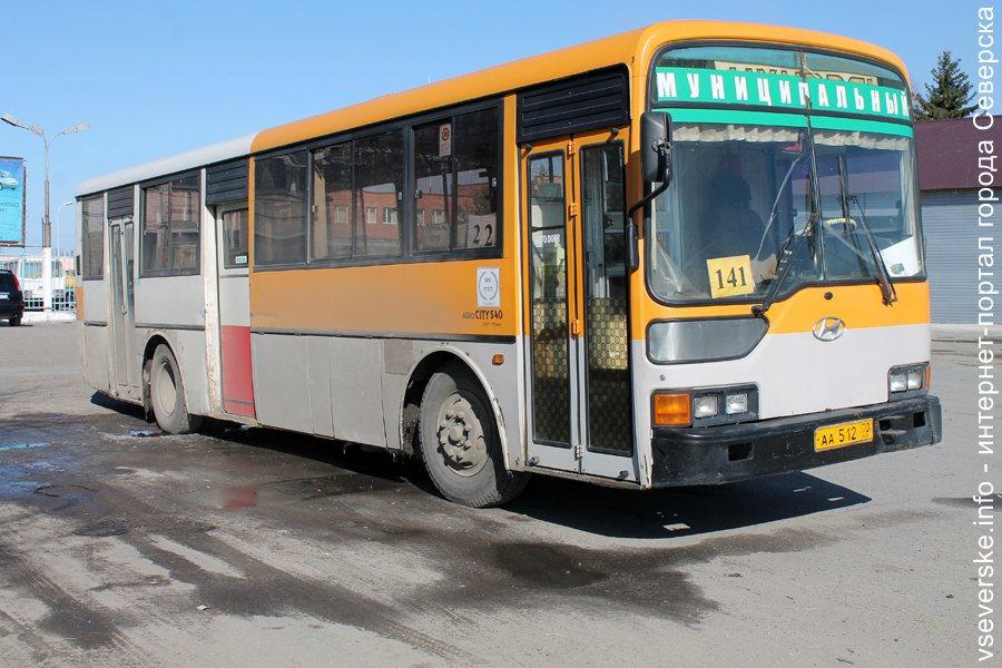 Отменены некоторые утренние рейсы по маршруту № 141