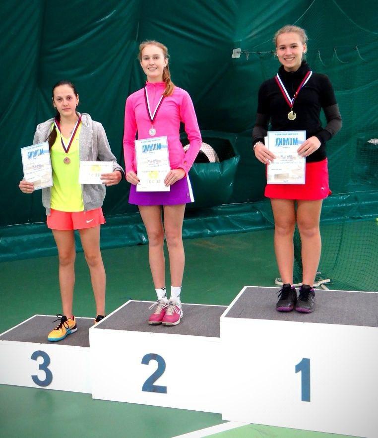 Северские теннисистки не оставили конкуренткам места на пьедестале