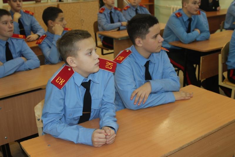 Полицейские провели правовые уроки в Северском кадетском корпусе