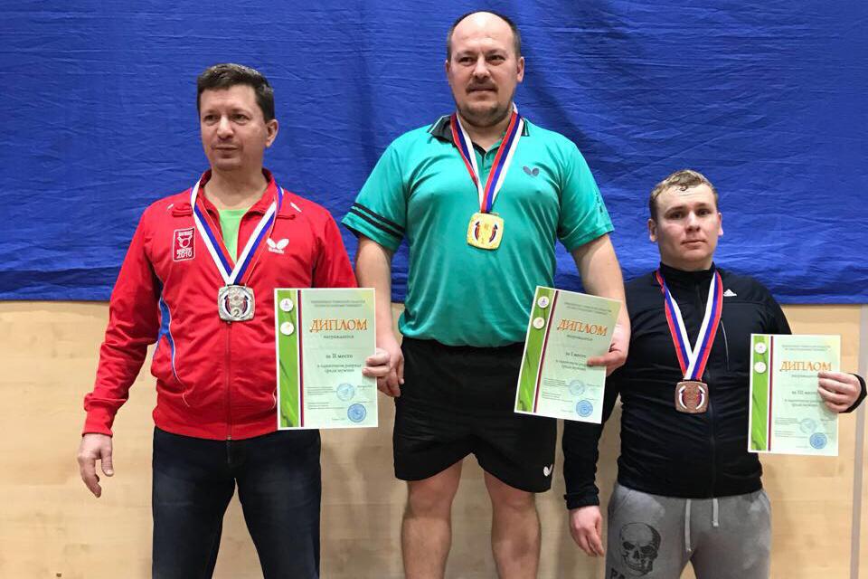 Успехи северчан на Первенстве области по настольному теннису