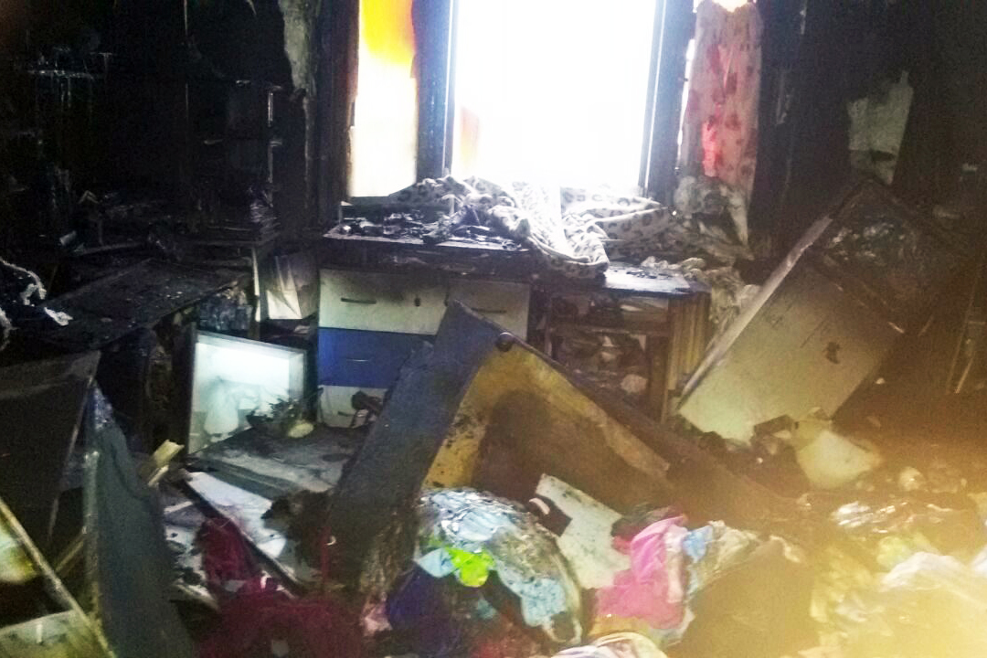 7 января в жилом доме на улице Победы произошел пожар