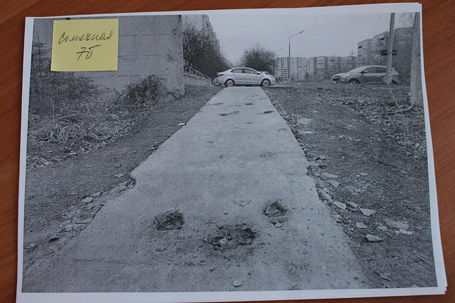 По вине недобросовестной организации северчане остались без тротуаров