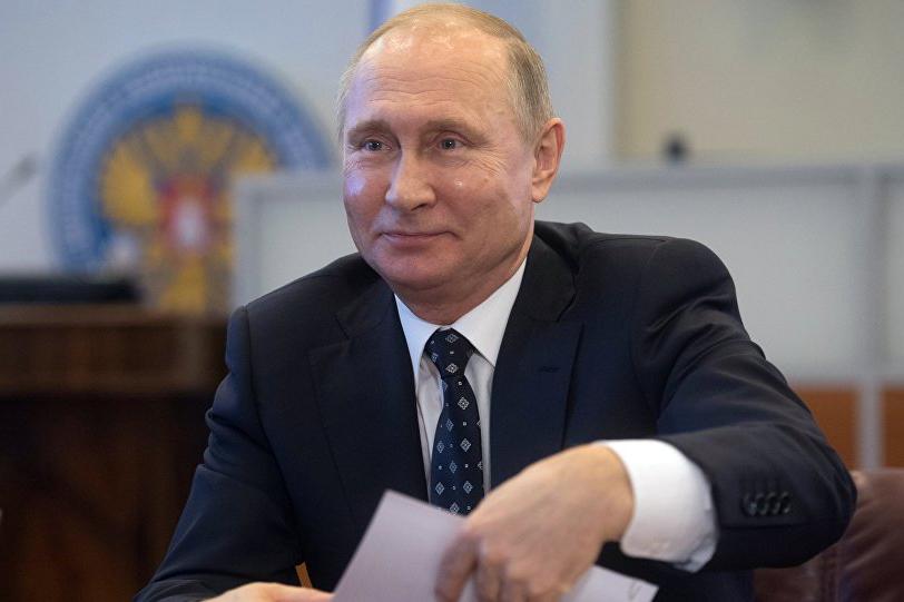 Путин набрал 76,56% голосов после обработки 95% протоколов