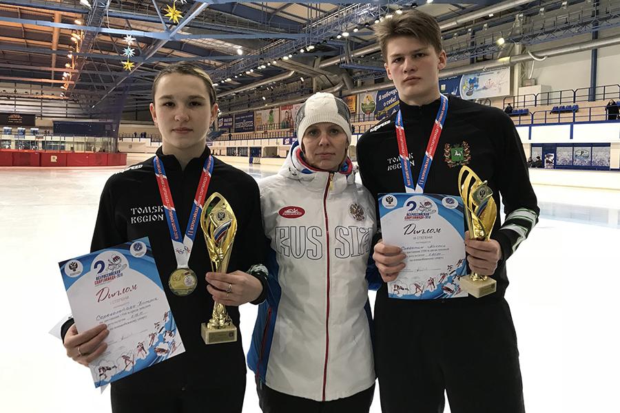 Северские конькобежцы вернулись с зимней Спартакиады с победами