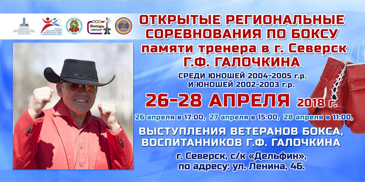 В Северске состоятся открытые региональные соревнования по боксу памяти тренера Г.Ф. Галочкина