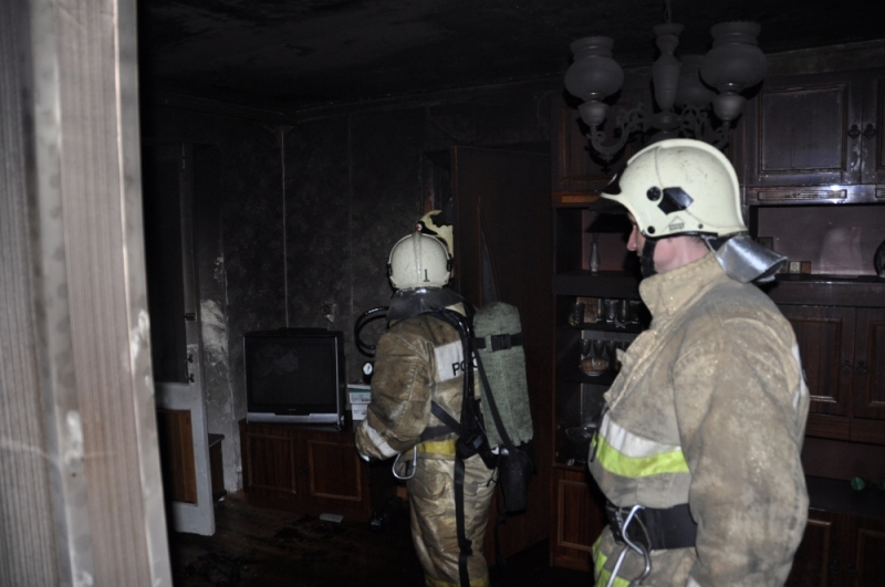 При пожаре в квартире спасён мужчина-инвалид