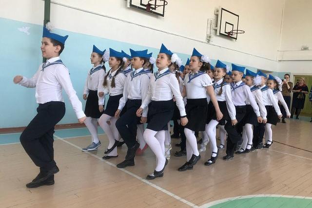 В Северской гимназии состоялся окружной парад