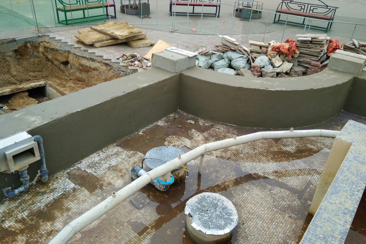 Очередной ремонт фонтана