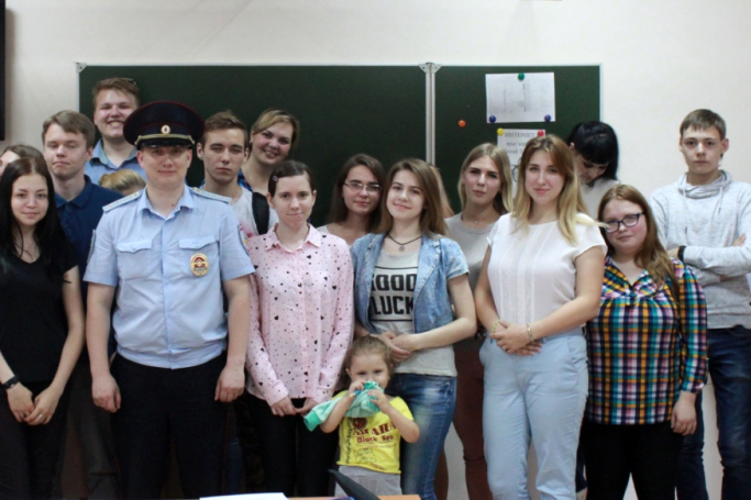 Полицейские поблагодарили студентов-юристов за активную гражданскую позицию
