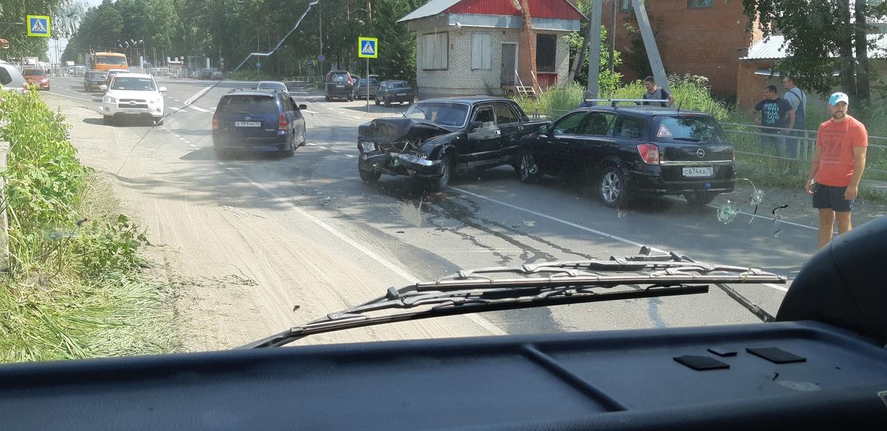 Авария возле Сосновского КПП