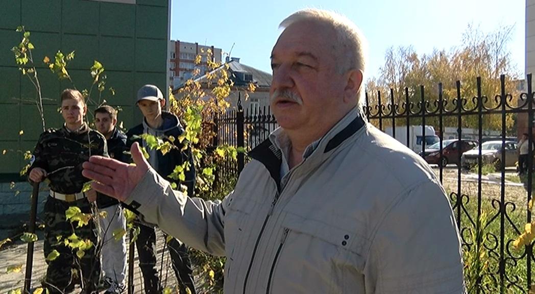 Курсанты ВСПК «Долг» высадили саженцы в березовой аллее, заложенной 20 лет назад