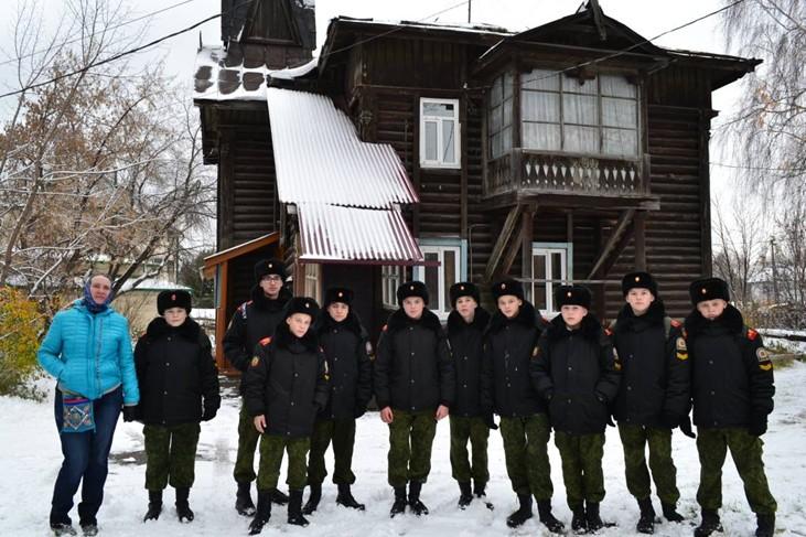 Кадеты посетили поселок Сосновый бор и деревню Кузовлево