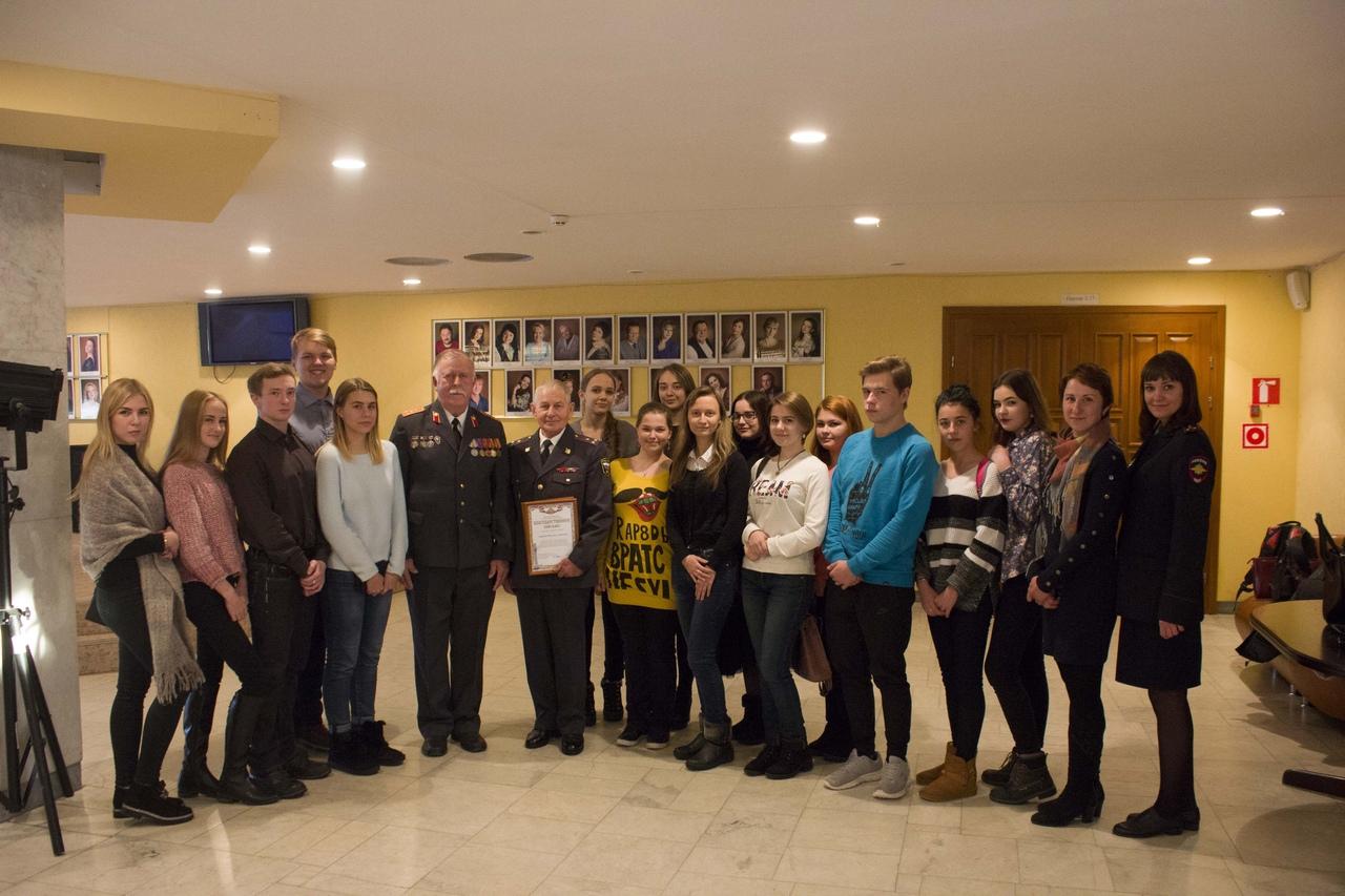 Студенты-юристы посетили торжественное собрание, посвященное Дню сотрудника органов внутренних дел