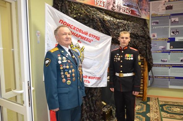 Ветераны Сибирского округа войск национальной гвардии Российской Федерации в гостях у бойцов поискового отряда «Юнармеец»