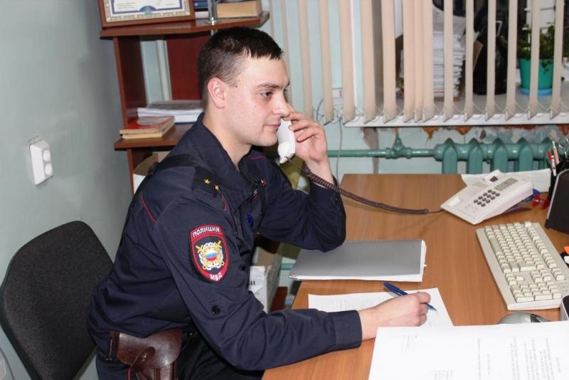 Жители поблагодарили участкового уполномоченного полиции