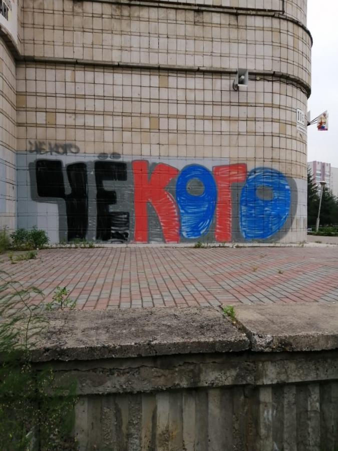 В городе Северске появились надписи «ЧЁКОГО»