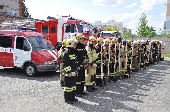 В Северске проверили боевую готовность огнеборцев при ликвидации лесных пожаров